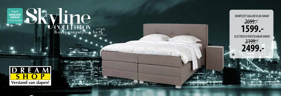 Dreamshop Boxspring Skyline City